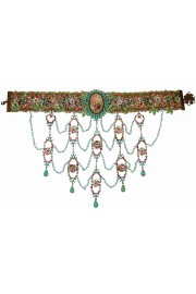 Michal Negrin Multicolor Baroque Cameo Choker Necklace