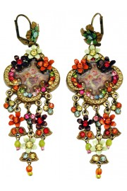 Michal Negrin Victorian Multicolor Cameo Earrings