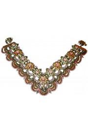 Michal Negrin Embellished V Lace Necklace