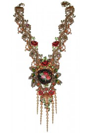 Michal Negrin Lace Roses Necklace