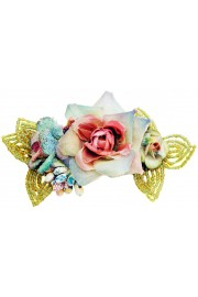 Michal Negrin Flowers Beaded Hair Clip Barrette