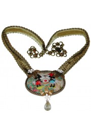 Michal Negrin Mickey Minnie Mouse Cabochon Cameo Necklace (Exclusive)