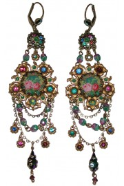 Michal Negrin Floral Cameo Earrings