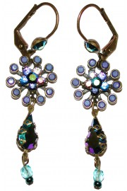 Michal Negrin Blue Starburst Earrings