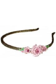 Michal Negrin Pink Roses Headband