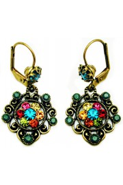 Michal Negrin Multicolor Green Earrings