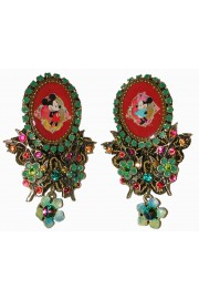 Michal Negrin Mickey Minnie Mouse Earrings