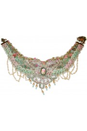Michal Negrin Vintage Style Lace Necklace