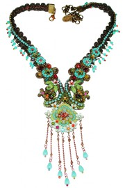 Michal Negrin Multicolor Floral Necklace