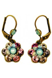 Michal Negrin Crystal Flower Earrings