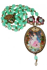 Michal Negrin Oval Cameo Necklace