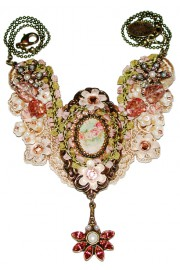 Michal Negrin Embellished Lace Cameo Necklace
