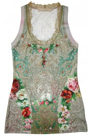 Michal Negrin Floral Tank Top