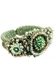 Michal Negrin Green Clamp Bracelet