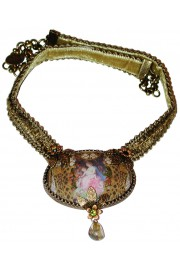 Michal Negrin Oval Cabochon Cameo Necklace