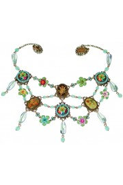 Michal Negrin Multicolor Cameos Necklace