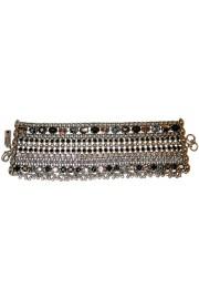 Amaro Tribal Black & Silver  Bracelet