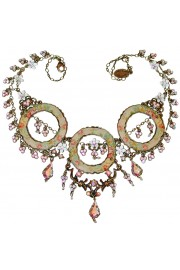 Michal Negrin Floral Hoops Aurora Borealis Necklace