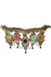 Michal Negrin Multicolor Roses Lace Necklace