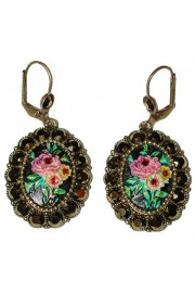 Michal Negrin Rose Relief Earrings