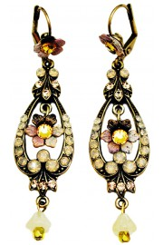 Michal Negrin Peach & Citrine Earrings