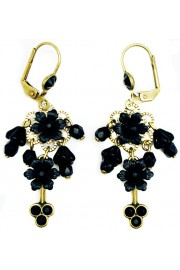 Michal Negrin Black Beaded Earrings