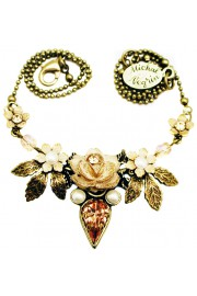 Michal Negrin Peach Rose Necklace
