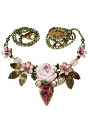 Michal Negrin Lilac Rose Necklace