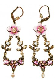 Michal Negrin Pink Floral Earrings
