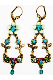 Michal Negrin Multicolor Floral Earrings