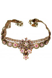 Michal Negrin Pink Lace Choker Necklace