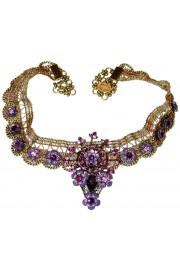 Michal Negrin Purple Blaze Choker Necklace