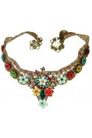 Michal Negrin Multicolor Lace Choker Necklace