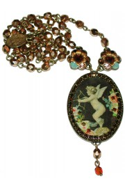 Michal Negrin Cupid Cameo Necklace