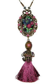 Michal Negrin Purple Tassel Necklace