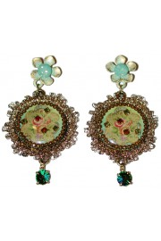 Michal Negrin Lace Cameo Earrings