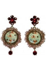 Michal Negrin Cupids Lace Earrings