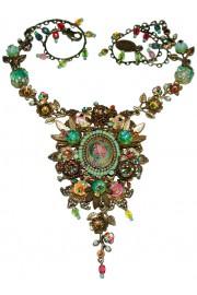 Michal Negrin Multicolor Cameo Necklace