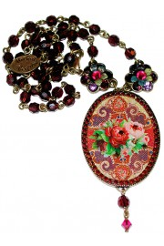 Michal Negrin Spanish Roses Cameo Necklace