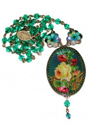 Michal Negrin Roses Cameo Necklace
