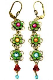 Michal Negrin Multicolor Flowers Earrings