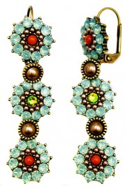 Michal Negrin Sea Green Flower Earrings