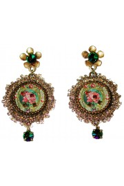 Michal Negrin Victorian Lace Cameo Earrings
