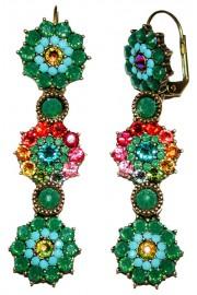 Michal Negrin Multicolor Flower Earrings