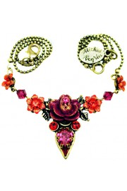 Michal Negrin Fuchsia Rose Necklace