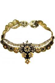 Michal Negrin Black Gold Blaze Choker Necklace