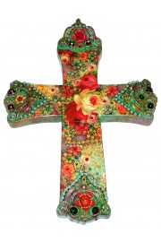 Michal Negrin Multicolor Wall Decor Cross