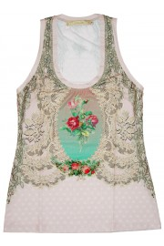 Michal Negrin Victorian Lace Tank Top