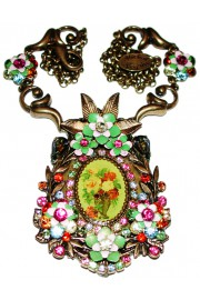 Michal Negrin Multicolor Cameo Necklace