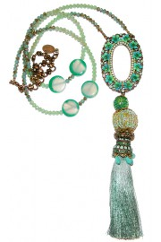 Michal Negrin Turquoise Tassel Necklace